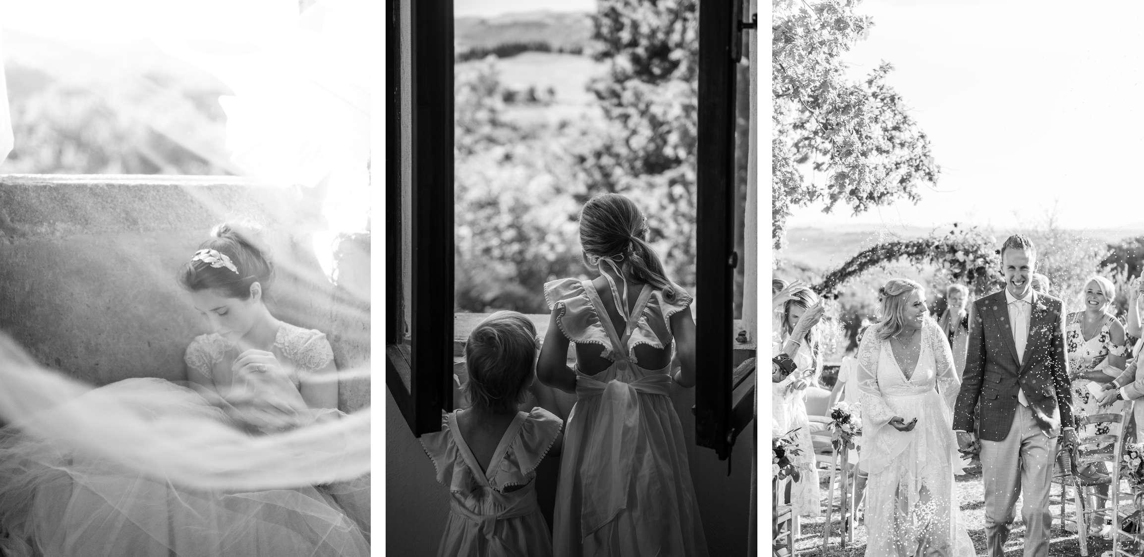zwart wit foto's van bruiloften in Italie