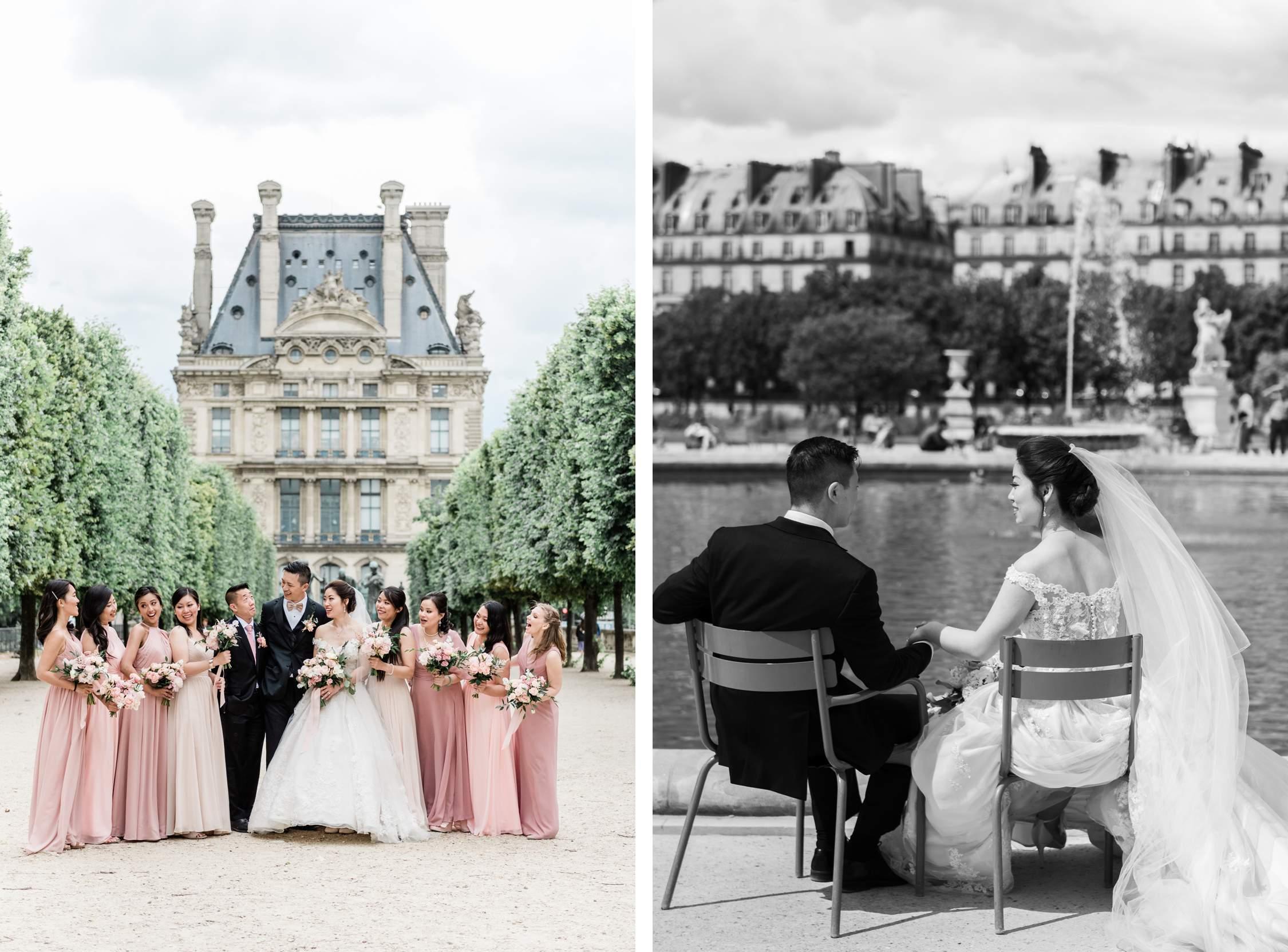 Trouwfotografie in Parijs, Frankrijk